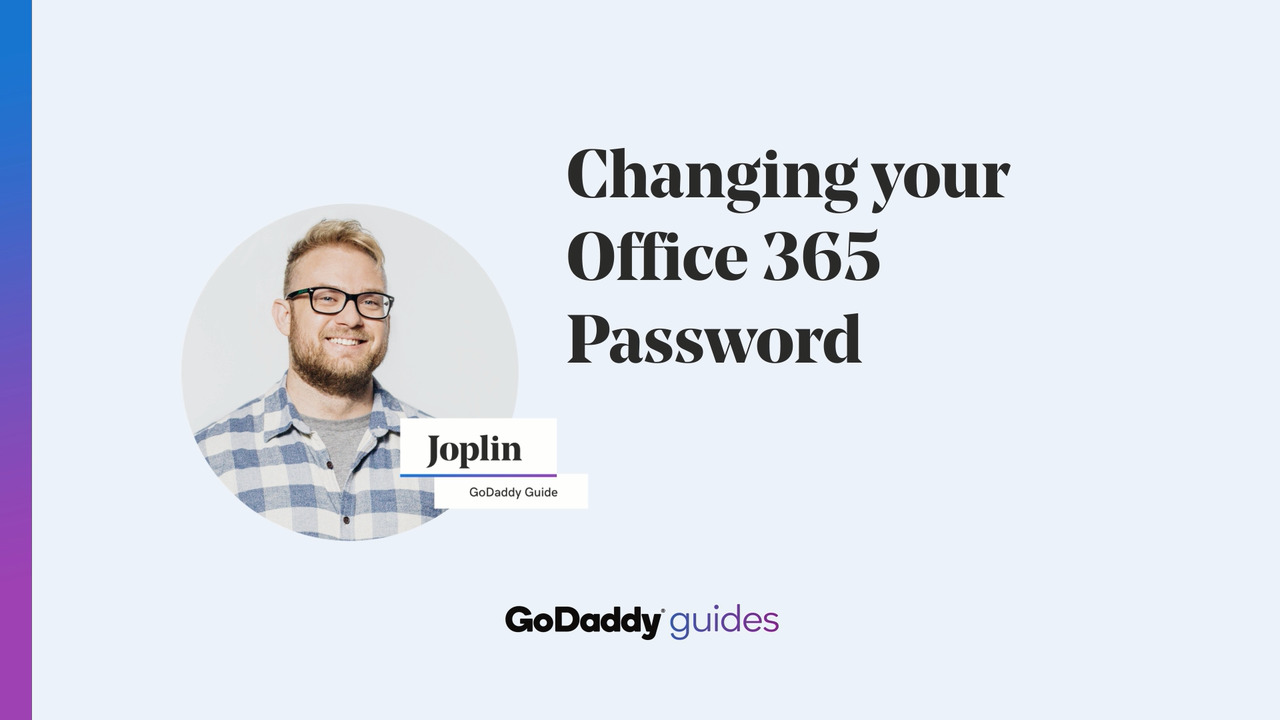 Change my Office 365 email password from the Email & Office