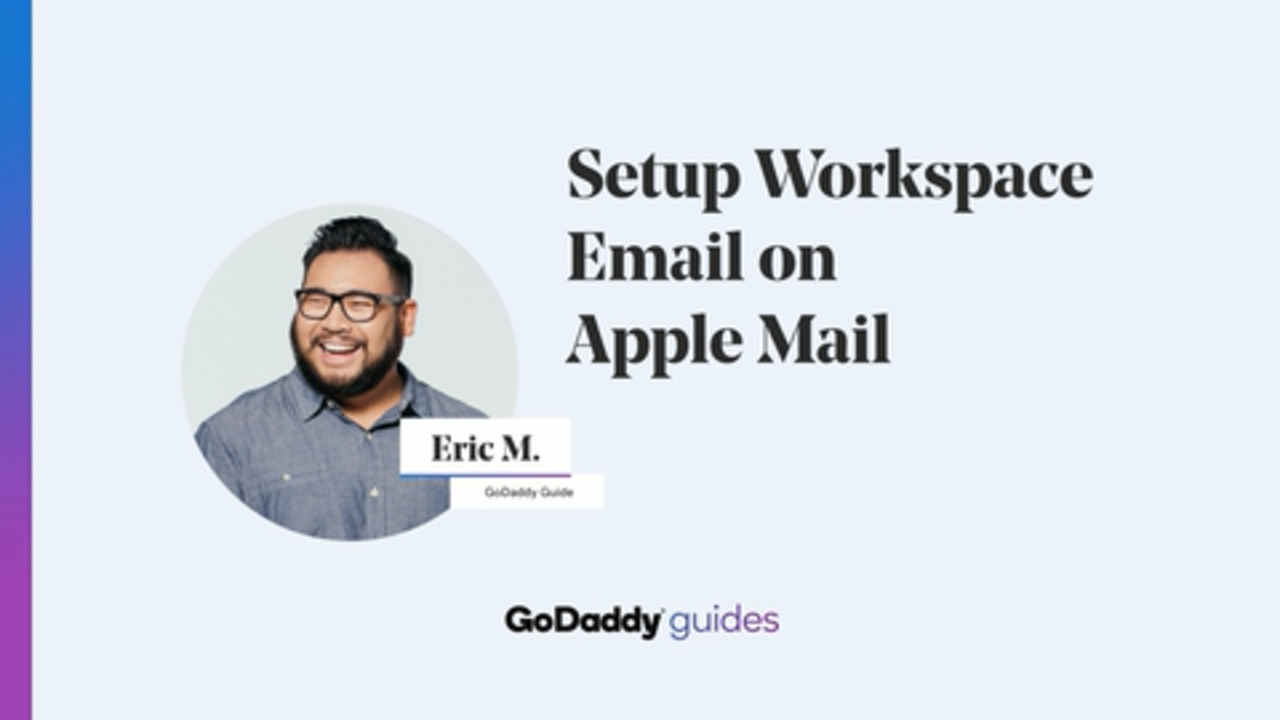 Setup Workspace Email On Apple Mail