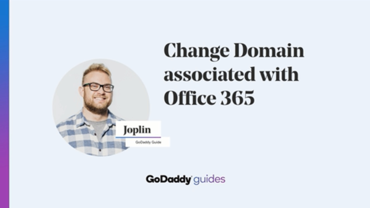 Change the domain on my Office 365 email account | Office 365 from