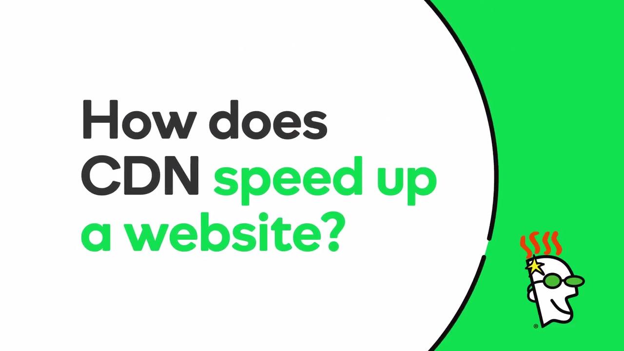 How Does CDN Speed Up a Website? - GoDaddy Videos