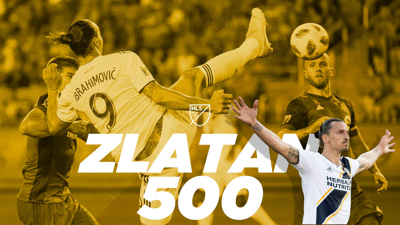 History Made Zlatan Style Ibrahimovic Scores Career Goal No 500 Mlssoccer Com