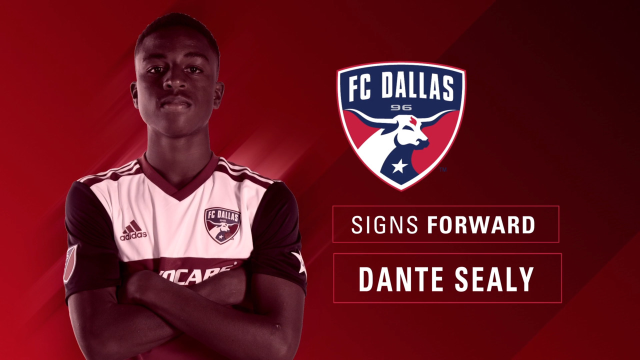 a310f60fb FC Dallas Signs 25th Homegrown Player Dante Sealy