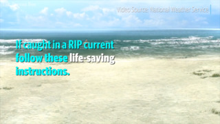 Don't panic! Tips for surviving a rip current