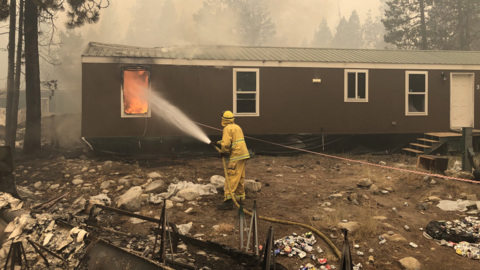 Fire at China Peak employee housing, sledding hill a charred landscape
