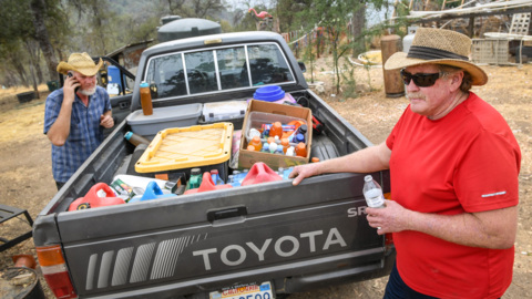California mountain man who defied evacuation order helps neighbors shut out by Creek Fire