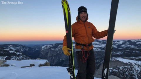 They skied down Half Dome to Yosemite Valley. It was a lifelong dream with 'relentless risk'