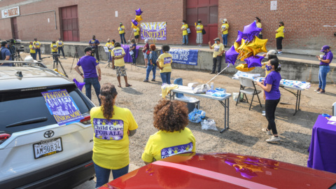Child care workers protest cuts to state reimbursement funding