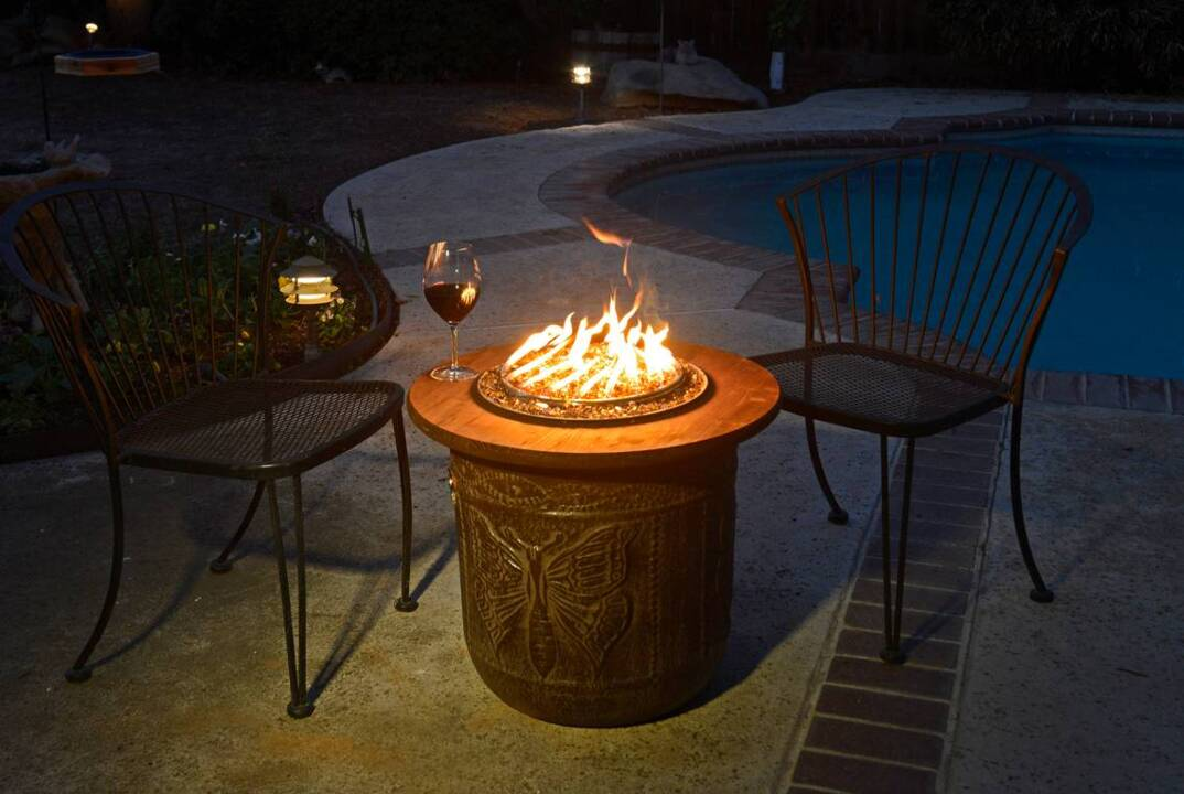 Diy Make A Portable Propane Fire Pit Out Of Flower Pot The Fresno Bee