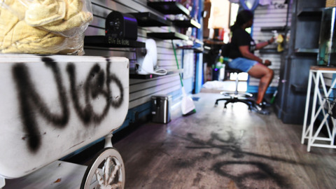 Old Town Clovis shop broken into, vandalized with racist graffiti