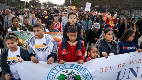 'It's not going to end.' Marchers honor Martin Luther King Jr. in Fresno