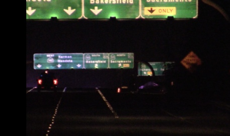 A man and a woman were shot on a Fresno highway