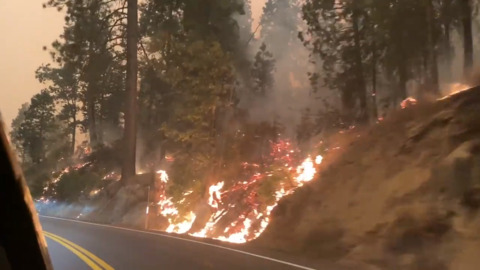 50 hikers hunkered down at this high Sierra resort. How they plan to evacuate Creek Fire