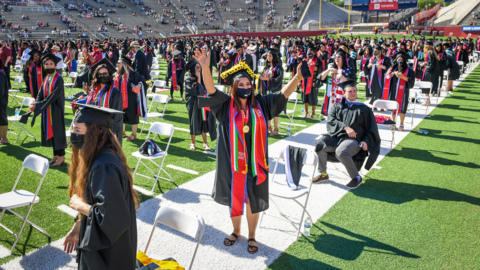 See video of Fresno State's first in-person graduation since the beginning of the pandemic