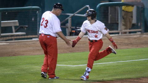 See game action from the Fresno Grizzlies home opener against the Reno Aces