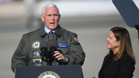 Hear Vice President Mike Pence's comments at Lemoore Naval Air Station