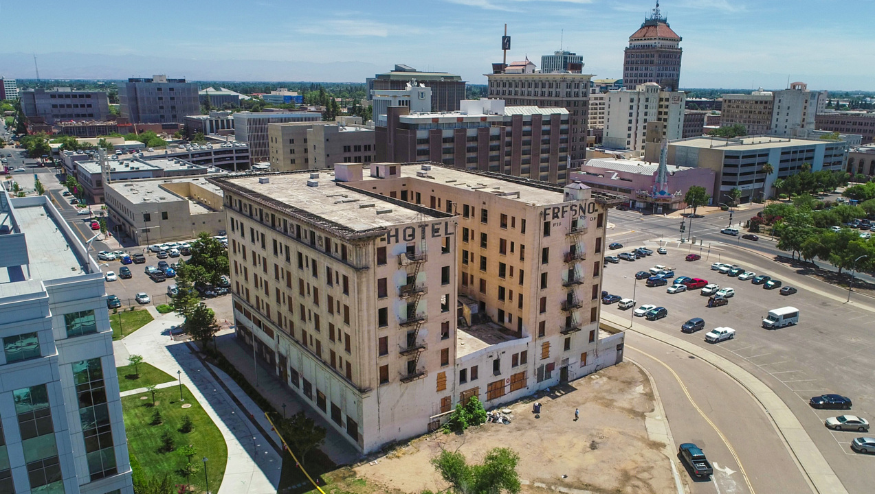 Construction begins to transform Hotel Fresno into apartments | The
