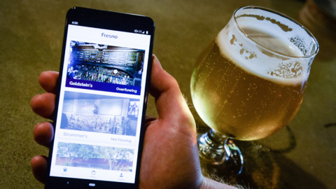 In a crazy busy bar in Fresno? Here's an app that helps you get your drink faster