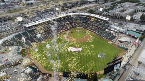 Watch the Fresno Grizzlies opening night extravaganza including drone video