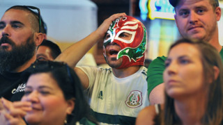 Fans at Fresno's Fat Boys Taqueria watch Mexico fall to Brazil in World Cup play