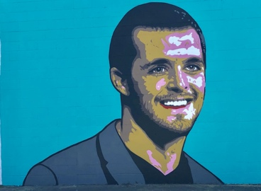Derek Carr mural goes up in Fresno ahead of Raiders training camp. Where you can see it
