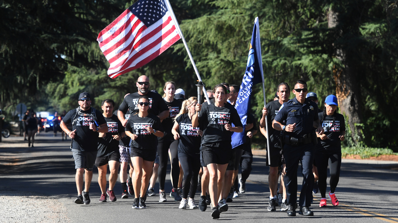 Hitting the pavement in Fresno for Law Enforcement Torch Run for Special Olympics