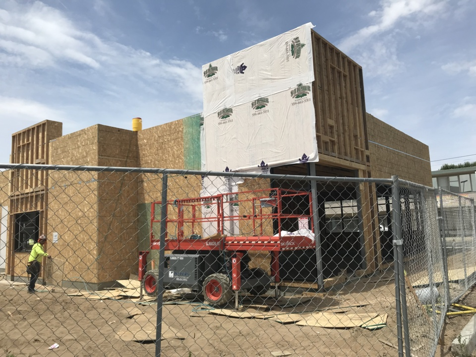 What's that construction on Blackstone Avenue? Another fast food restaurant