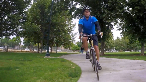 He rode his bike to work, through the mean streets of Fresno, and lived to tell the tale