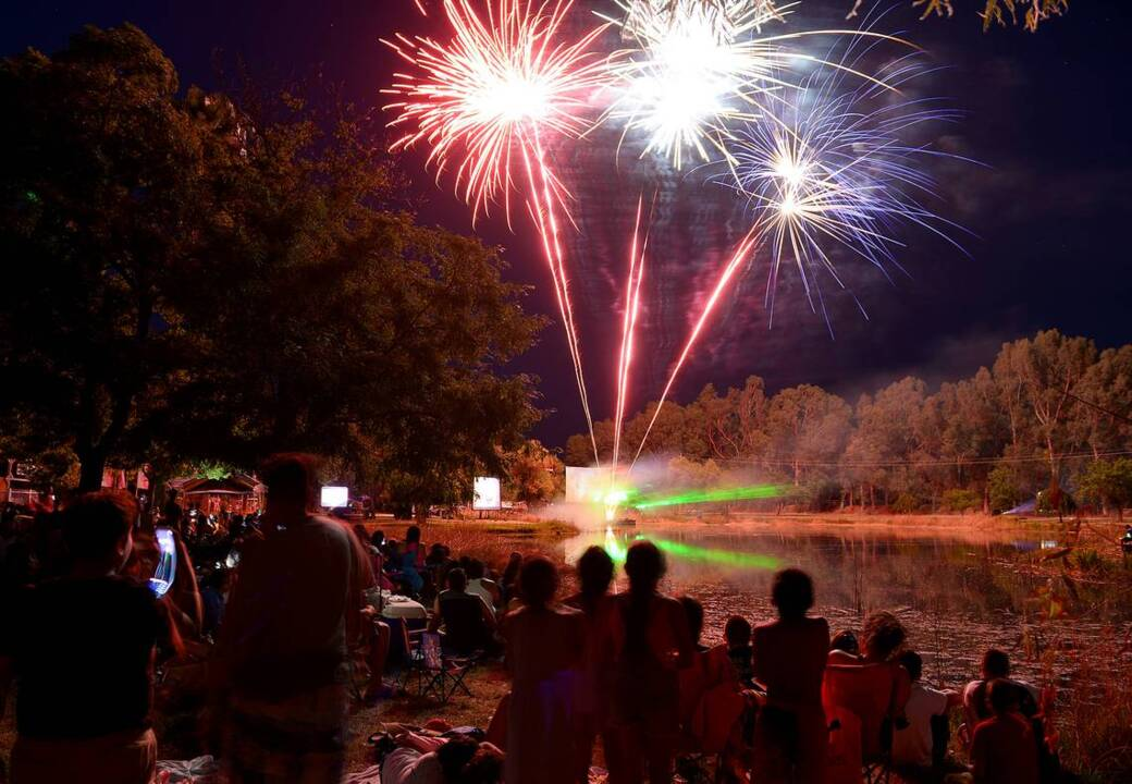 Fourth of July shows in California's central San Joaquin