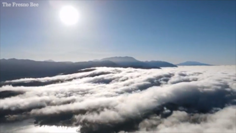 See clouds roll like waves over Lake Arrowhead in time-lapse video