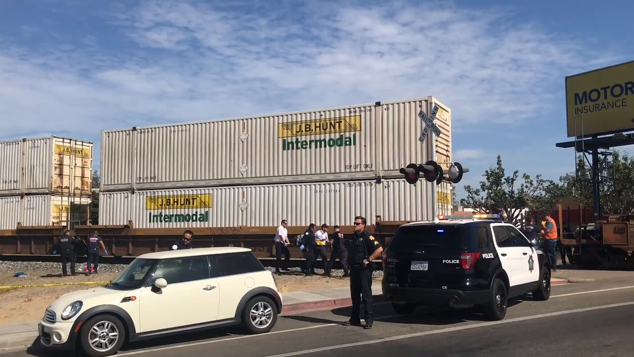 Pedestrian killed by train near Fresno City College