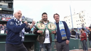 Jose Ramirez comes out to support Fresno FC