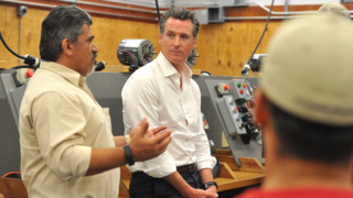 Newsom tours Fresno job training site