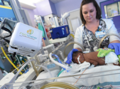 No parent wants to leave a child who's in intensive care. These cameras help