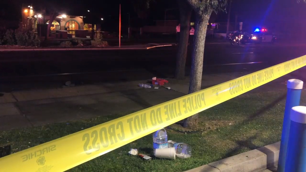 Man witnesses a stabbing in central Fresno. Moments later, he gets struck by a car