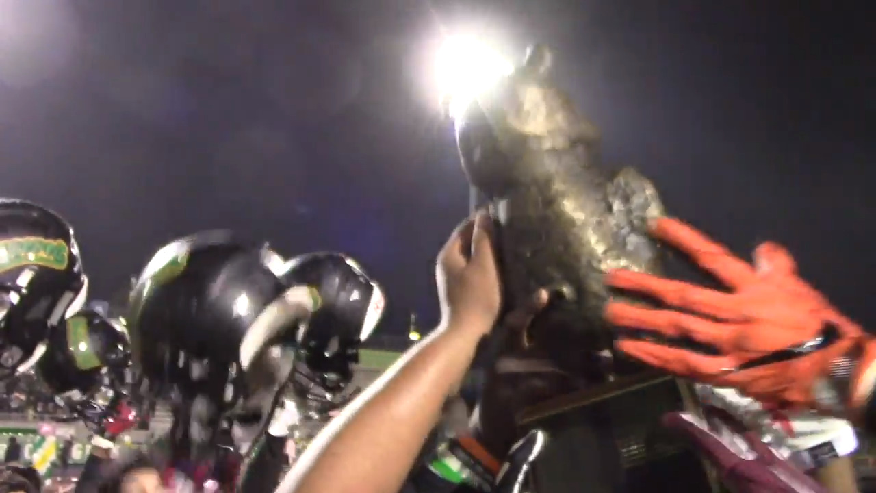 They played for the bronze pig in the 'Little Big Game' and one team had playoffs on mind