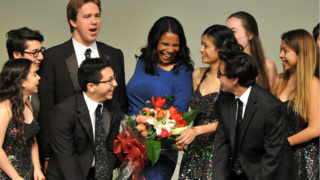 Audra McDonald returns to Roosevelt High for renaming of theater in her honor