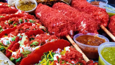 Flamin' Hot Cheetos meet Mexican food in Fresno – and a soft, red taco shell is formed