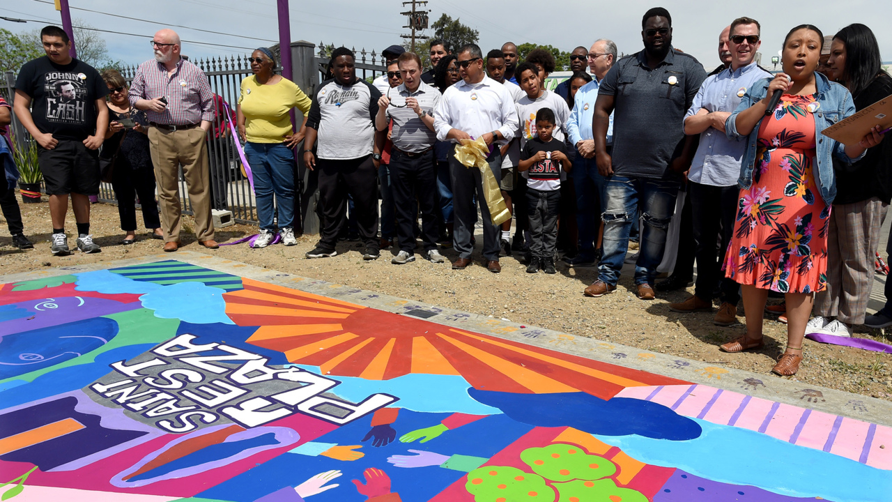 West Fresno church unveils a special place for the community: Saint Rest Plaza