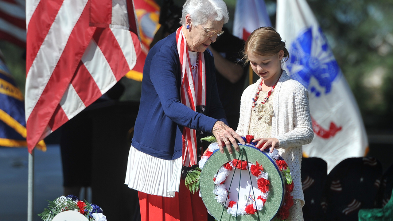 Memorial Day events in the central San Joaquin Valley include avenue of flags, sunrise service