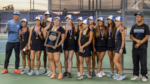 Clovis North girls tennis captures fourth section tile in a row