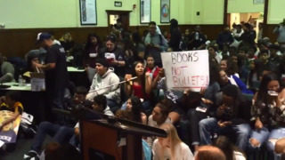 'Books, not bullets,' Edison High students chant at Fresno Unified office