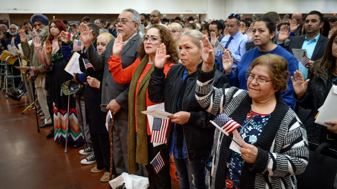 New US citizens say 2020 election as reason for naturalization | The
