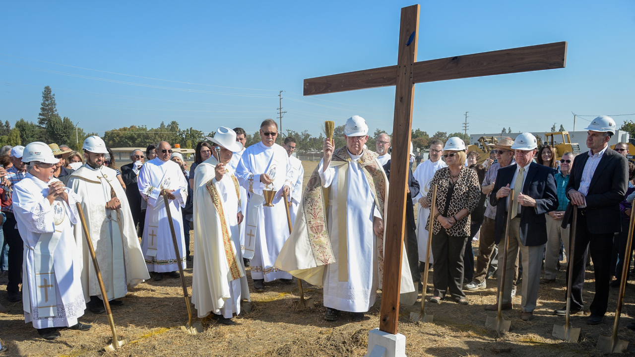 Work beginning on largest Catholic church in the United States. And it's in Visalia