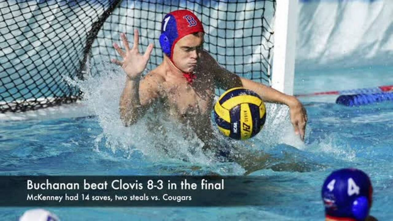 Buchanan goalie Kyle McKenney cleans up in cage to earn Water Polo Player of Year