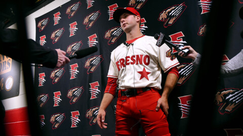 About those red pants: Meet  Fresno Grizzlies infielder Carter Kieboom