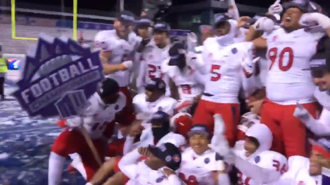 Fresno State celebrates Mountain West championship on blue turf