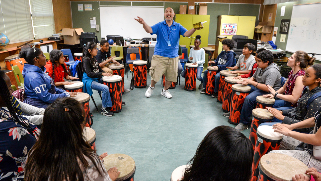 Drum circles for PE: It's happening in some Fresno elementary schools – and helping