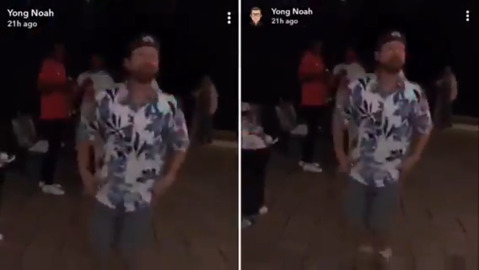 Check out Trent Tompkins' dad dance to Tupac at a grad party