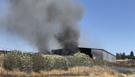 Fire at a recycling center in northeast Fresno
