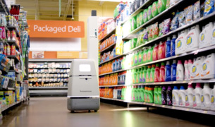 Bossa Nova robot navigates autonomously and use AI for on-shelf inventory analysis